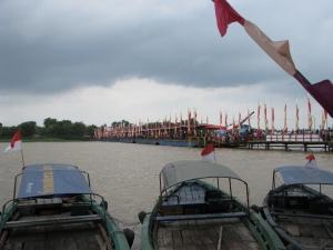 the temporary bridge