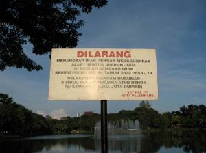 Dilarang mancing di Kambang Iwak