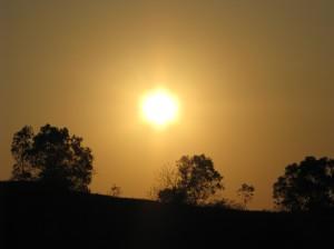 sunset at GWK
