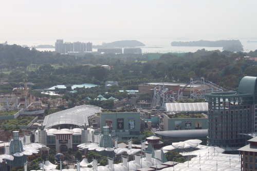 Universal Studio Singapore dilihat dari cable car