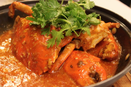 The famous chili crab