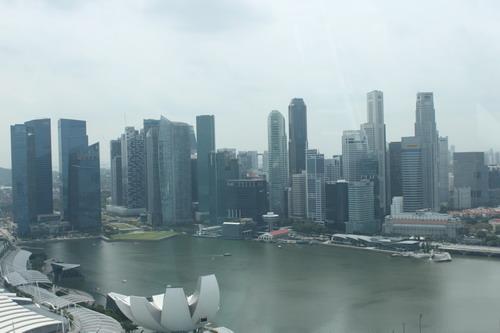 Pemandangan dari atas Singapore Flyer