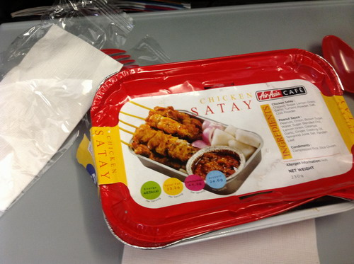 chicken satay Air Asia
