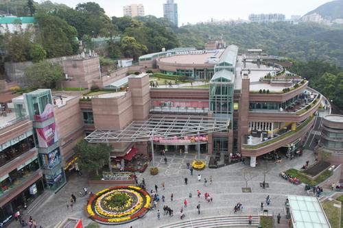 The peak galleria dilihat dari atas