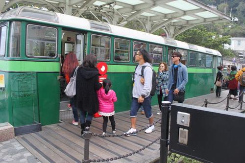 Tram ini dijadikan sebagai pusat informasi turis