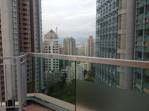 view kota  Hong Kong dari kampus HKU