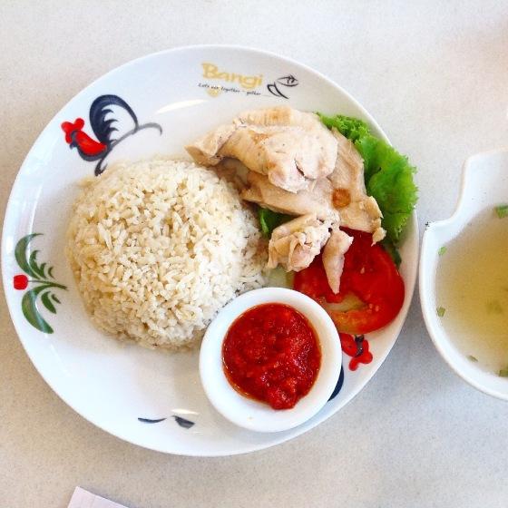 salted chicken hainan rice - Rp. 38.000,-