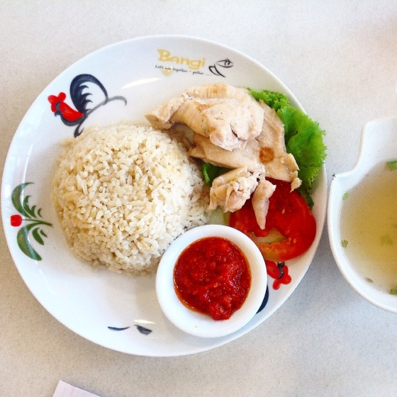 salted chicken hainan rice - Rp. 38.000,-