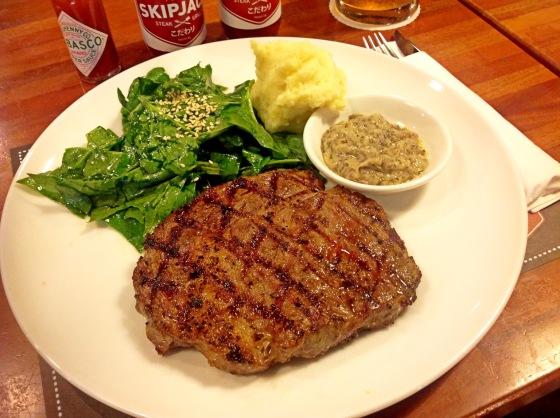NZ rib eye steak - Rp. 140.000,-