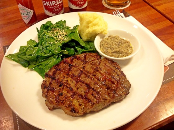 NZ rib eye steak - Rp. 140.000,-