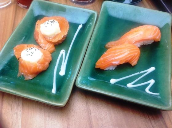 sake sushi - *lupa juga berapa, sekitar 20 ribuan juga*