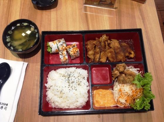 chicken teriyaki bento set - Rp. 59.000,-