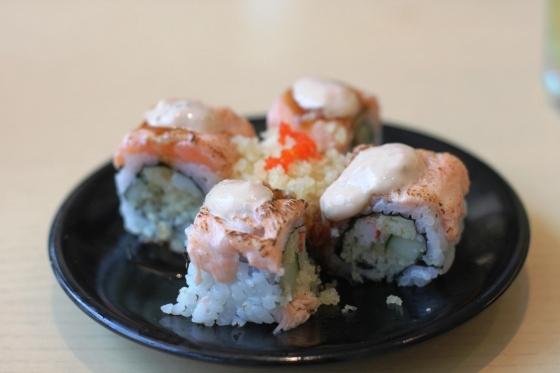 salmon crispy aburi - Rp. 38.000,-