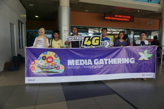 kontingen Palembang di Bandara SMB 2