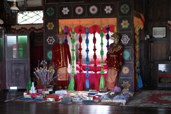 pelaminan di pernikahan Belitung