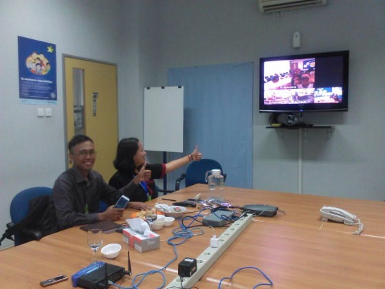 Teleconference di Grha XL Lampung Pic: Sari Sitopu